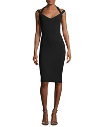 La Petite Robe Di Chiara Boni Quirine Sleeveless Jersey Cocktail Dress Black