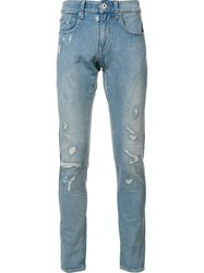 G Star Distressed Jeans Blue