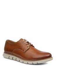 Gbx Hart Leather Plain Toe Oxfords Cognac