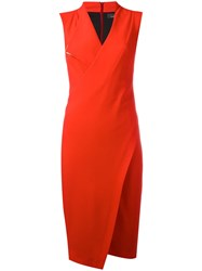 Capucci Asymmetric Dress Red