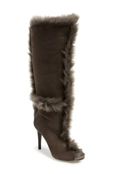 Pedro Garcia 'Sully' Tall Boot Women Grey Suede