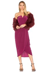 Yumi Kim Glamour Night Midi Dress Wine