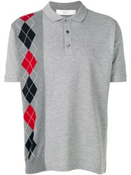 Pringle Of Scotland Argyle Polo Shirt Grey