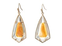 Kendra Scott Carla Earrings Rose Gold Brown Mother Of Pearl Earring