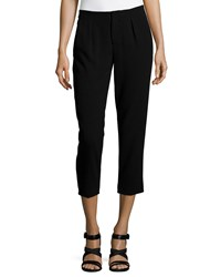 Haute Hippie Pleated Capri Pants Black