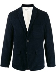 Universal Works Ribbed Fitted Blazer Blue