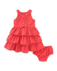 Kate Spade Sleeveless Tiered Stretch Jersey Dress W Bloomers Red Size 12 24 Months