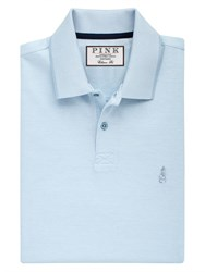 Thomas Pink Men's Birch Plain Classic Fit Polo Blue