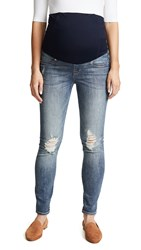 Ingrid And Isabel Sasha Maternity Skinny Jeans Distressed Light Indigo