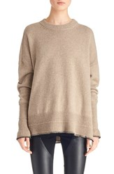 Givenchy Women's Side Slit Alpaca And Wool Sweater