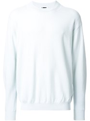 H Beauty And Youth. Ribbed Crew Neck Jumper Blue
