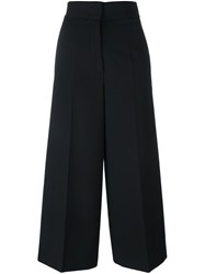 Jil Sander High Waisted Flared Trousers Black