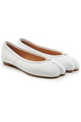 Maison Martin Margiela Leather Split Toe Ballerinas White