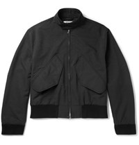 Acne Studios Mito Brushed Twill Harrington Jacket Black