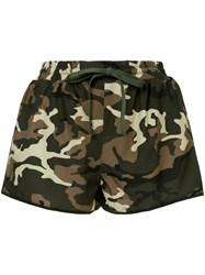 The Upside Camouflage Print Shorts Green