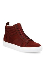 Del Toro Suede High Top Sneakers Burgundy