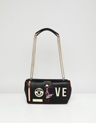 Love Moschino Shoulder Bag With Charms Black