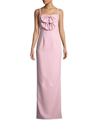 Black Halo Milayla Column Gown W Bow Details Pink