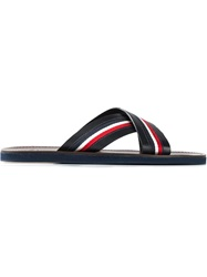 Moncler Cross Strap Sandals Blue