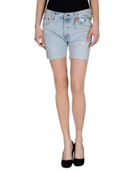 Htc Denim Shorts Blue
