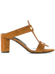 Tom Ford Studded Strappy Sandals Brown