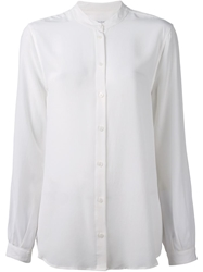 Equipment Mandarin Collar Shirt White