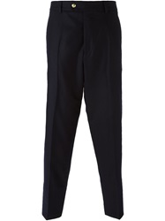 Moncler Gamme Bleu Straight Tailored Trousers Blue