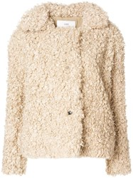 Closed Artificial Fur Jacket Nude And Neutrals