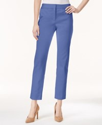 Charter Club Solid Slim Leg Ankle Pants Only At Macy's Worldly Blue