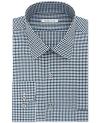 Van Heusen Men's Classic Regular Fit Green Multi Check Dress Shirt
