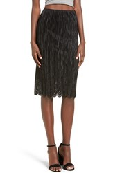 Soprano Women's Pleated Pencil Skirt