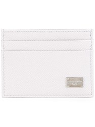 Dolce And Gabbana Dauphine Leather Cardholder Grey