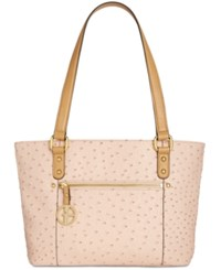 Giani Bernini Ostrich Embossed Tote Created For Macy's Blush
