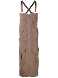 Jean Paul Gaultier Vintage Zip Through Apron Brown