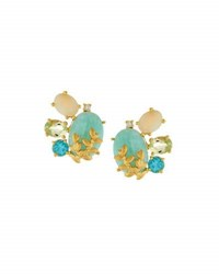 Indulgems Multi Gemstone Cluster Earrings