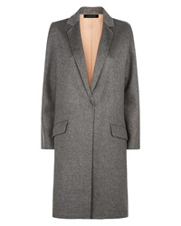 Jaeger Wool Double Faced Angled Coat Grey