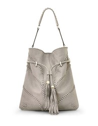 Brian Atwood Lucas Leather Hobo Grey