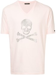 Loveless Embellished Skull T Shirt Pink And Purple