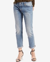 Levi's 501 Ct Customized Tapered Boyfriend Jeans Island Azure