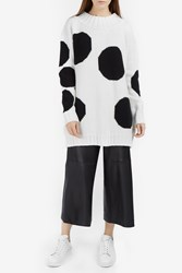Msgm Polka Dot Knit Sweater Ivory