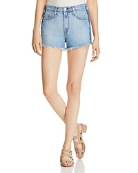 Nobody Highboy Split Denim Shorts In Shaded