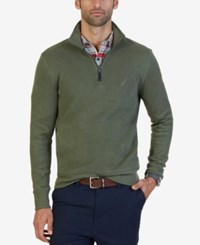 Nautica Men's Windward Quarter Zip Sweater Cargo Green