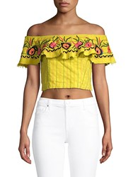 Red Carter Alta Floral Cotton Top Apple