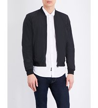 Replay Branded Woven Bomber Jacket Pirate Black