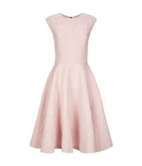 Ted Baker Harmel Jacquard Full Skirt Midi Dress Pink