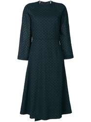 Cedric Charlier Broderie Anglaise Dress Blue