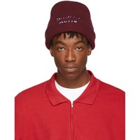Acne Studios Red And Blue Reed Beanie