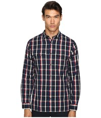 Vince Military Shirt Blue Red