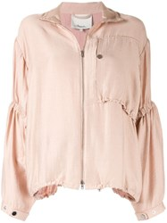 3.1 Phillip Lim Anorak With Cinched Sleeves Pink