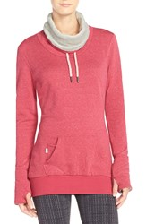 Bench 'Junction' Cowl Neck Pullover Red Bud Marl